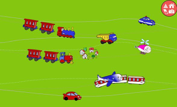 Trains, cars & games for kids apk screenshot