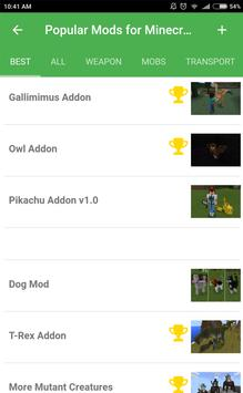 Popular mods for Minecraft PE screenshot 15