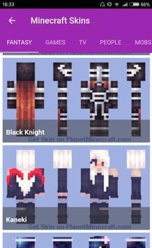 Skins For Minecraft PE Descarga APK Gratis Herramientas Aplicación - Skins para minecraft pe de kaneki