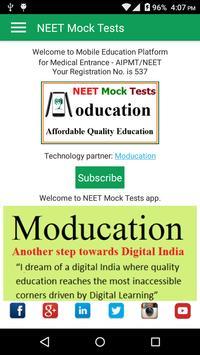 NEET Mock Practice Tests Best App for NEET 2019 poster