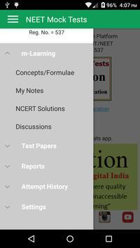 NEET Mock Practice Tests Best App for NEET 2019 screenshot 1