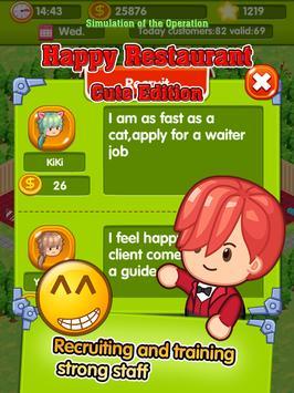 Happy Restaurant cute edition apk screenshot
