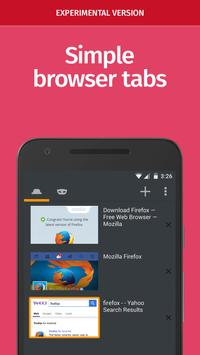 Firefox Nightly for Developers (Unreleased) apk screenshot