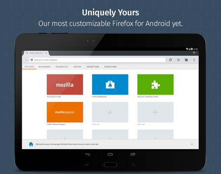 Firefox for Android Beta apk screenshot