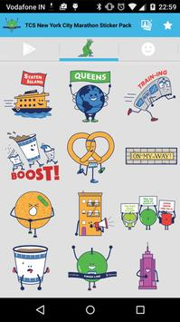 TCS NYC Marathon Sticker Pack screenshot 2