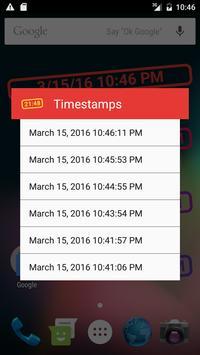 Timestamps apk screenshot