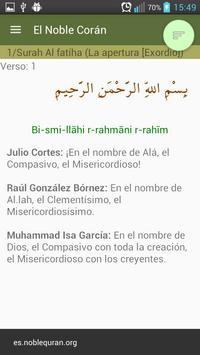 Compare traducciones del Corán screenshot 1