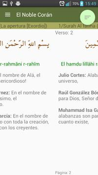 Compare traducciones del Corán screenshot 2