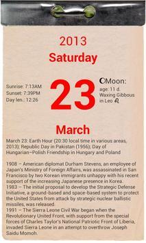 T-calendar lite screenshot 1