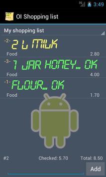 OI Shopping list apk screenshot