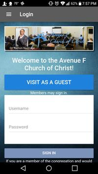 Avenue F Church of Christ poster