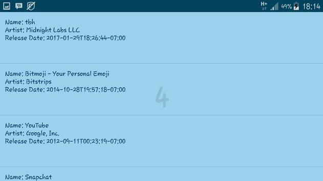 Top 25 apk screenshot
