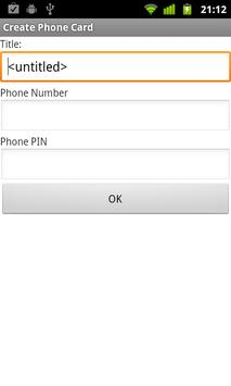 Phone Card Dialer screenshot 1