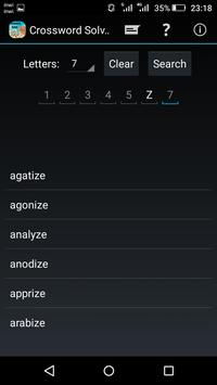 Crossword solver screenshot 1