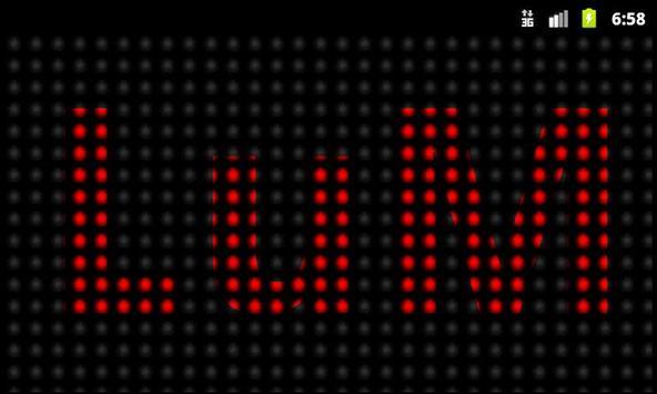 Banner LED Lite poster