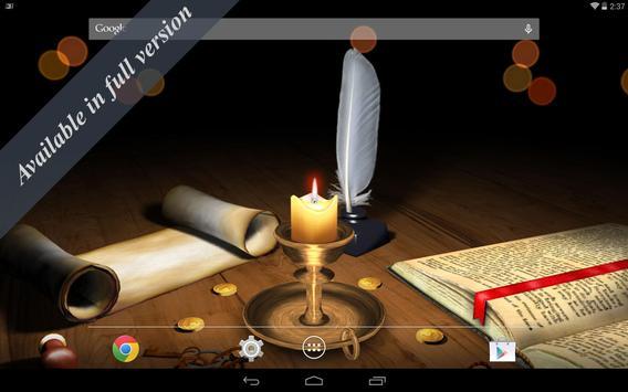 3D Melting Candle Live Wallpaper Free screenshot 3