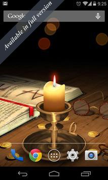 3D Melting Candle Live Wallpaper Free screenshot 1