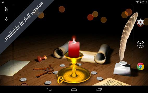 3D Melting Candle Live Wallpaper Free apk screenshot