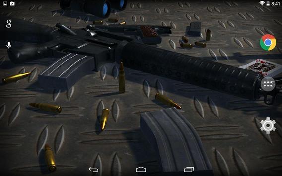 3D Guns Live Wallpaper Free screenshot 2