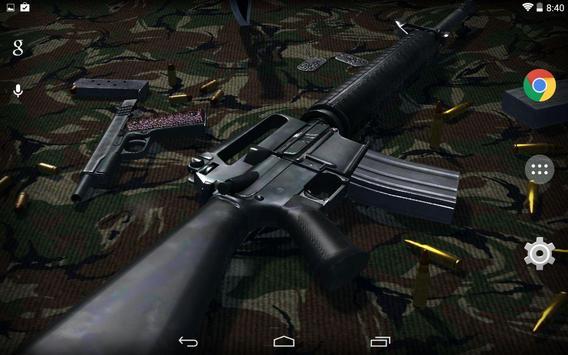 3D Guns Live Wallpaper Free screenshot 3