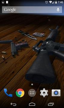 3D Guns Live Wallpaper Free poster