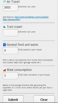 CO2 Emission Calculator screenshot 1
