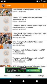 Tennessee Volunteers Football News poster
