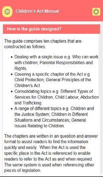 Child Act Manual screenshot 1