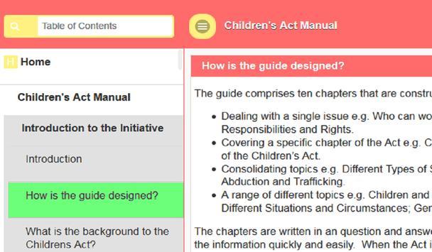 Child Act Manual screenshot 2