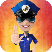 Police kids wrong actions icon