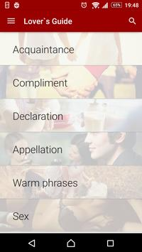 Lover`s Guide: Phrasebook screenshot 7