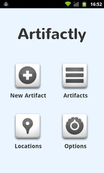 Artifactly poster