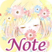 Simple Notepad Flowery Kiss icon