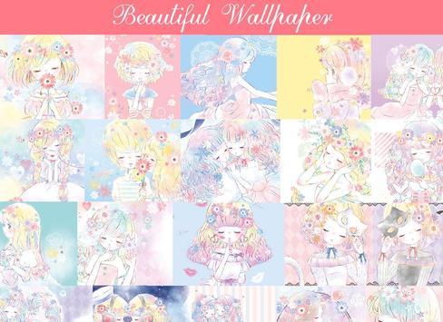 Wallpaper Flowery Kiss poster