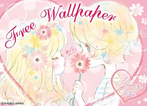 Wallpaper Flowery Kiss screenshot 7