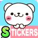 Bear heart Stickers