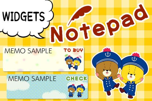 MEMO PAD TINY TWIN BEARS NOTE screenshot 3