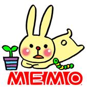 Memo Pad Widget RABBIT Free icon