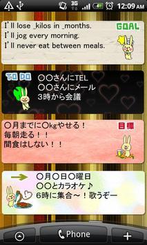 Memo Pad Widget RABBIT Free apk screenshot