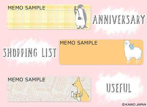 Sticky Notes Shirokuma-Days apk screenshot