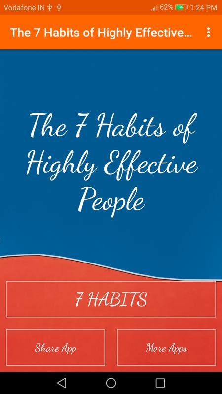 The 7 Habits Of Highly Effective People Summary For Android APK