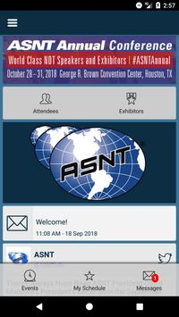 ASNT Events poster
