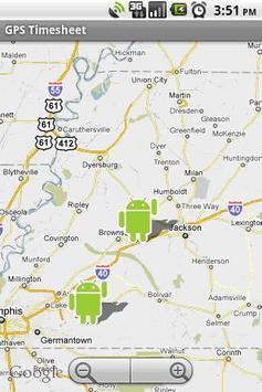 GPS TimeSheet apk screenshot