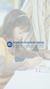 BTU Boston Teachers Union 2017 Mobile Application poster