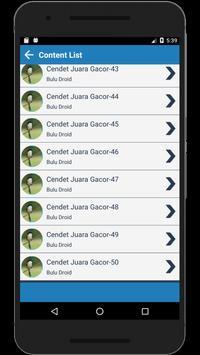 Kumpulan master kicau Cendet juara Terlengkap screenshot 3