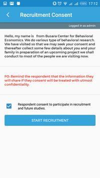 Busara Lab Recruitment App screenshot 1