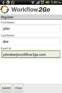 Workflow2Go apk screenshot