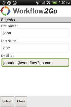 Workflow2Go screenshot 5