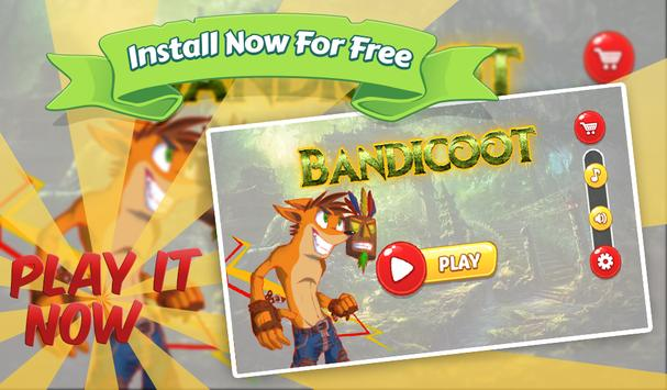Super Bandicoot Amazing Jungle World Adventure poster