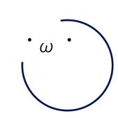 Emblem text composition icon